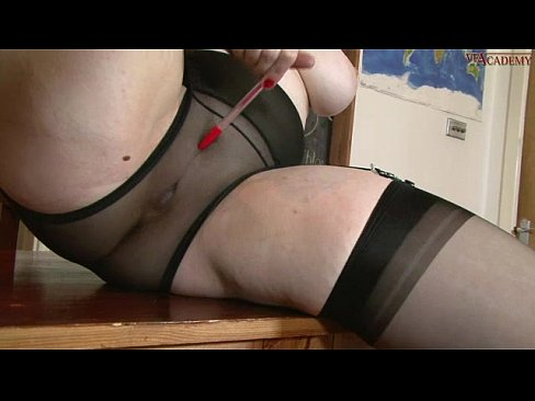 Chubby in stockings porn