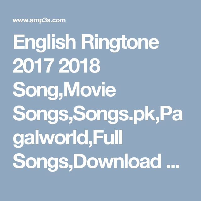 Popular english songs download pagalworld
